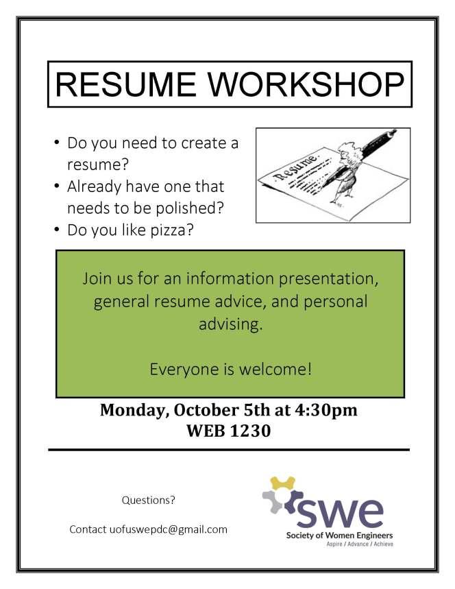 swe resume workshop flyer